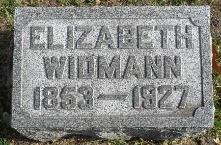 WIDMANN, ELIZABETH - Black Hawk County, Iowa   ELIZABETH WIDMANN
