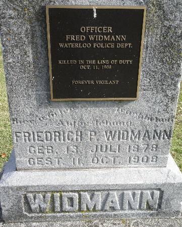 WIDMANN, FRIEDRICH FRED - Black Hawk County, Iowa | FRIEDRICH FRED WIDMANN