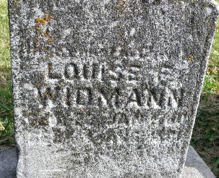 WIDMANN, LOUISE - Black Hawk County, Iowa   LOUISE WIDMANN