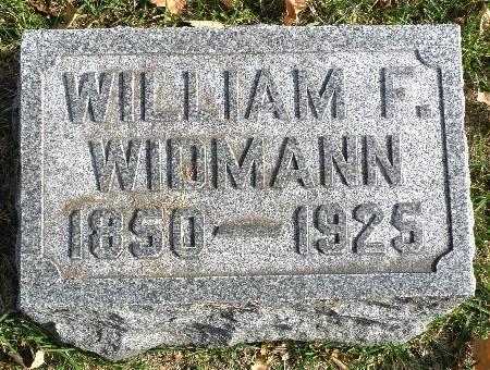 WIDMANN, WILLIAM F. - Black Hawk County, Iowa | WILLIAM F. WIDMANN