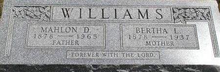 WILLIAMS, BERTHA L. - Black Hawk County, Iowa | BERTHA L. WILLIAMS