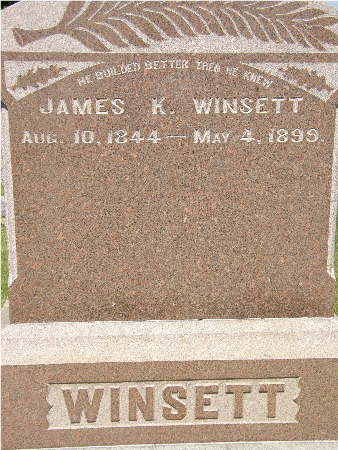 WINSETT, JAMES K. - Black Hawk County, Iowa | JAMES K. WINSETT