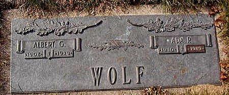 WOLF, ADA P. - Black Hawk County, Iowa | ADA P. WOLF