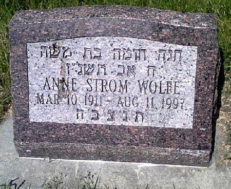STROM WOLFE, ANNE - Black Hawk County, Iowa | ANNE STROM WOLFE