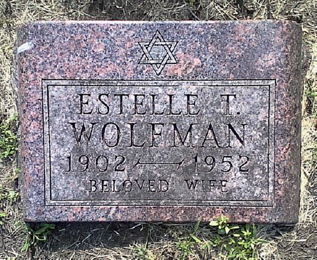 WOLFMAN, ESTELLE T. - Black Hawk County, Iowa | ESTELLE T. WOLFMAN