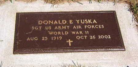 YUSKA, DONALD E - Black Hawk County, Iowa   DONALD E YUSKA