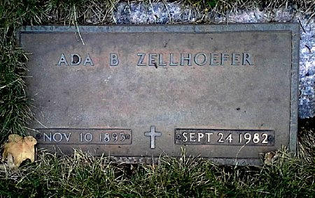 ZELLHOEFER, ADA B. - Black Hawk County, Iowa | ADA B. ZELLHOEFER