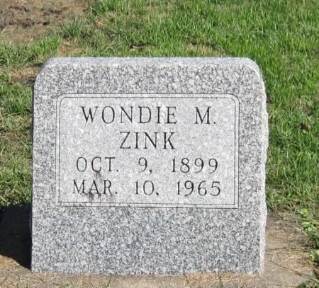 ZINK, WONDIE M - Black Hawk County, Iowa | WONDIE M ZINK