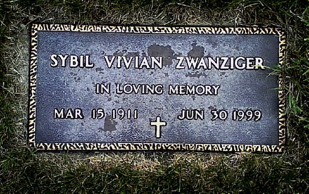 ZWANZIGER, SYBIL VIVIAN - Black Hawk County, Iowa | SYBIL VIVIAN ZWANZIGER