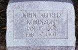 ROBINSON, JOHN ALFRED - Black Hawk County, Iowa | JOHN ALFRED ROBINSON