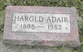 ADAIR, HAROLD - Boone County, Iowa | HAROLD ADAIR