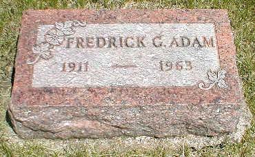 ADAM, FREDERICK G. - Boone County, Iowa | FREDERICK G. ADAM