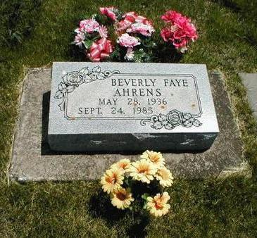 AHRENS, BEVERLY FAYE - Boone County, Iowa   BEVERLY FAYE AHRENS