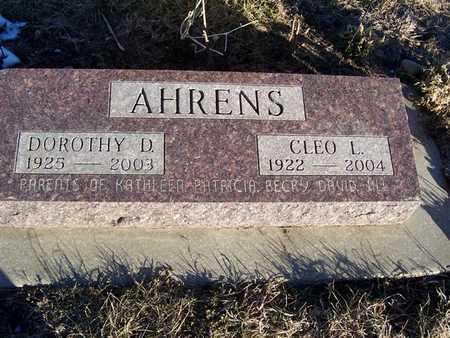 AHRENS, CLEO L. - Boone County, Iowa | CLEO L. AHRENS