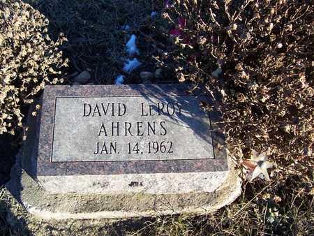 AHRENS, DAVID LEROY - Boone County, Iowa | DAVID LEROY AHRENS