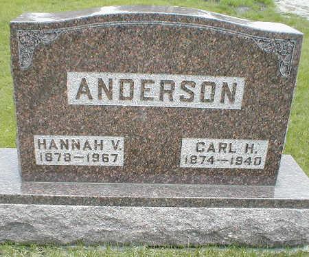 ANDERSON, HANNAH V. - Boone County, Iowa   HANNAH V. ANDERSON