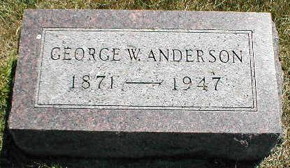 ANDERSON, GEORGE W. - Boone County, Iowa | GEORGE W. ANDERSON