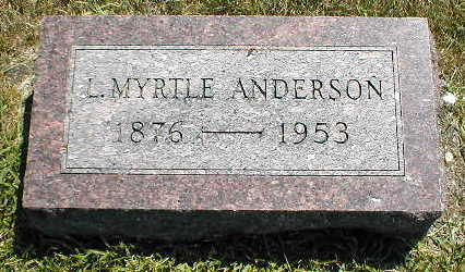 ANDERSON, L. MYRTLE - Boone County, Iowa   L. MYRTLE ANDERSON
