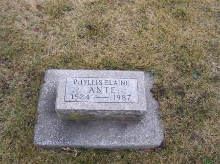 ANTE, PHYLLIS ELAINE - Boone County, Iowa | PHYLLIS ELAINE ANTE