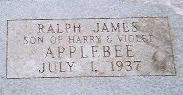 APPLEBEE, RALPH JAMES - Boone County, Iowa | RALPH JAMES APPLEBEE