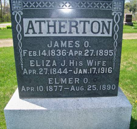 COATES ATHERTON, ELIZA J - Boone County, Iowa | ELIZA J COATES ATHERTON