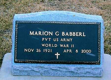 BABBERL, MARION G. - Boone County, Iowa | MARION G. BABBERL
