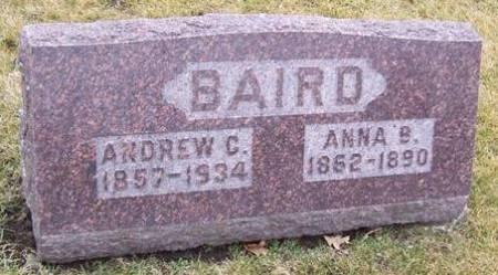 BAIRD, ANNA B. - Boone County, Iowa   ANNA B. BAIRD