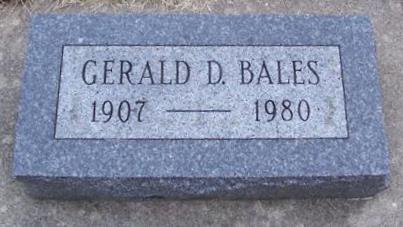 BALES, GERALD D. - Boone County, Iowa | GERALD D. BALES