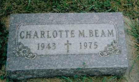 BEAM, CHARLOTTE M. - Boone County, Iowa   CHARLOTTE M. BEAM