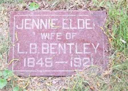 BENTLEY, JENNY ( ELDER) - Boone County, Iowa | JENNY ( ELDER) BENTLEY