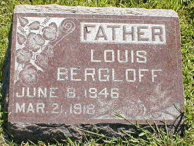 BERGLOFF, LOUIS - Boone County, Iowa   LOUIS BERGLOFF