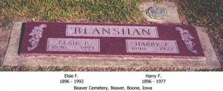 BLANSHAN, ELSIE F. AND HARRY F. - Boone County, Iowa | ELSIE F. AND HARRY F. BLANSHAN