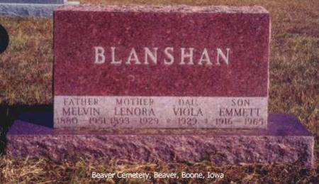 BLANSHAN, MELVIN, LENORA, VIOLA AND EMMETT - Boone County, Iowa | MELVIN, LENORA, VIOLA AND EMMETT BLANSHAN