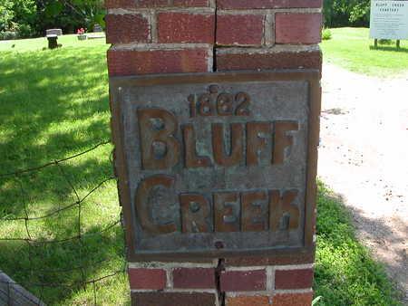 BLUFF CREEK, CEMETERY - Boone County, Iowa   CEMETERY BLUFF CREEK