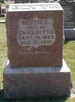 BLYTH, NETTIE E. - Boone County, Iowa   NETTIE E. BLYTH