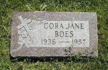BOES, CORA JANE - Boone County, Iowa   CORA JANE BOES