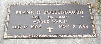 BOLLENBAUGH, FRANK H. - Boone County, Iowa   FRANK H. BOLLENBAUGH