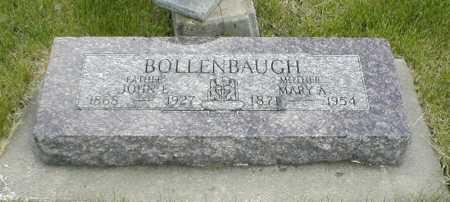 BOLLENBAUGH, MARY A. - Boone County, Iowa | MARY A. BOLLENBAUGH