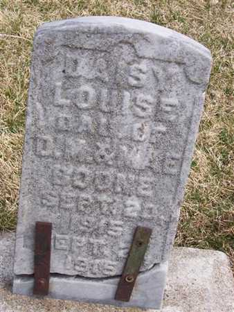 BOONE, DAISY LOUISE - Boone County, Iowa | DAISY LOUISE BOONE