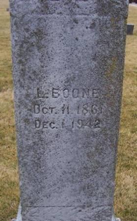 BOONE, L. - Boone County, Iowa   L. BOONE