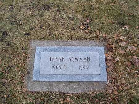 BOWMAN, IRENE - Boone County, Iowa   IRENE BOWMAN