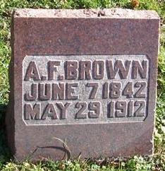 BROWN, A. F. - Boone County, Iowa   A. F. BROWN