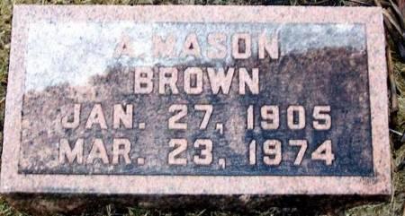 BROWN, A. MASON - Boone County, Iowa | A. MASON BROWN