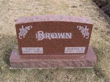 BROWN, BERTHA H. - Boone County, Iowa | BERTHA H. BROWN