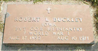 BUCKLEY, ROBERT L. - Boone County, Iowa   ROBERT L. BUCKLEY