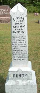 BUNDY, THOMAS - Boone County, Iowa | THOMAS BUNDY
