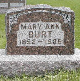 BURT, MARY ANN - Boone County, Iowa   MARY ANN BURT
