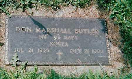 BUTLER, DON MARSHALL - Boone County, Iowa   DON MARSHALL BUTLER
