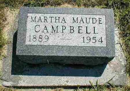 CAMPBELL, MARTHA MAUDE - Boone County, Iowa | MARTHA MAUDE CAMPBELL