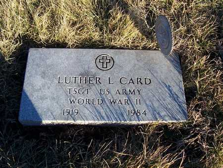 CARD, LUTHER L. - Boone County, Iowa | LUTHER L. CARD